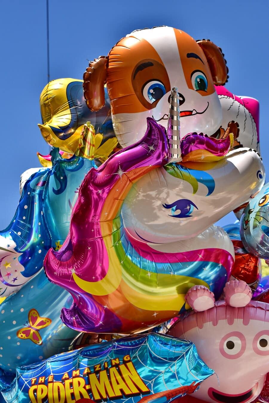 Helium, Ballon, Spielzeug, bunte, glänzend, glänzend, Unterhaltung, Spaß, Kunst, hell