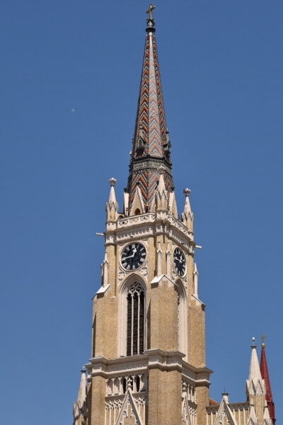 church, gothic, church tower, architectural style, European, christianity, baroque, classic, roof, building