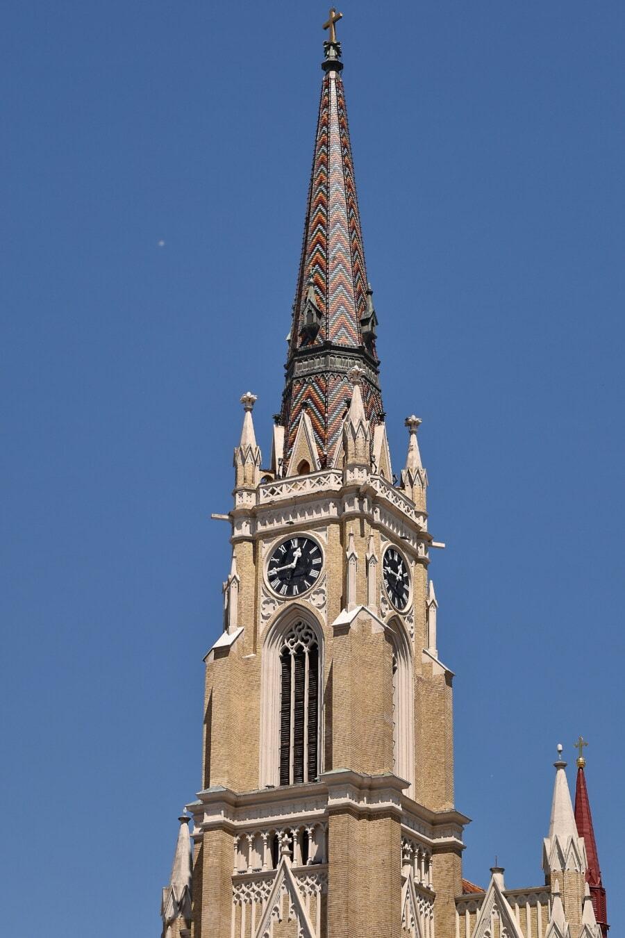Kirche, gotisch, Kirchturm, architektonischen Stil, Europäische, Christentum, Barock, Klassiker, Dach, Gebäude
