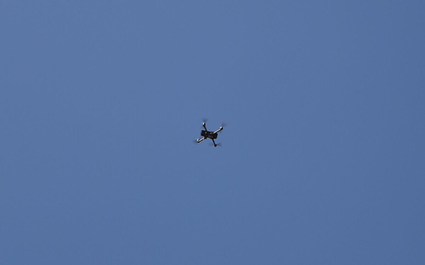 dron, air, vehicle, aircraft, flight, flying, fast, blue sky, device, high