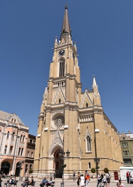 centro città, chiesa, Torretta di Chiesa, Europeo, Gotico, stile architettonico, attrazione turistica, turistiche, architettura, città