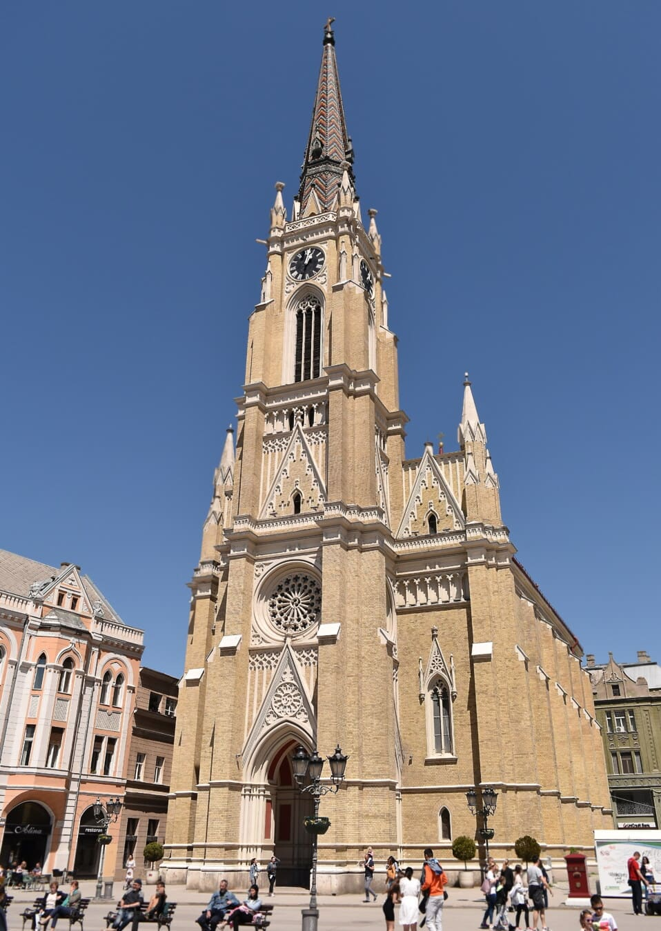 downtown, church, church tower, European, gothic, architectural style, tourist attraction, tourist, architecture, city