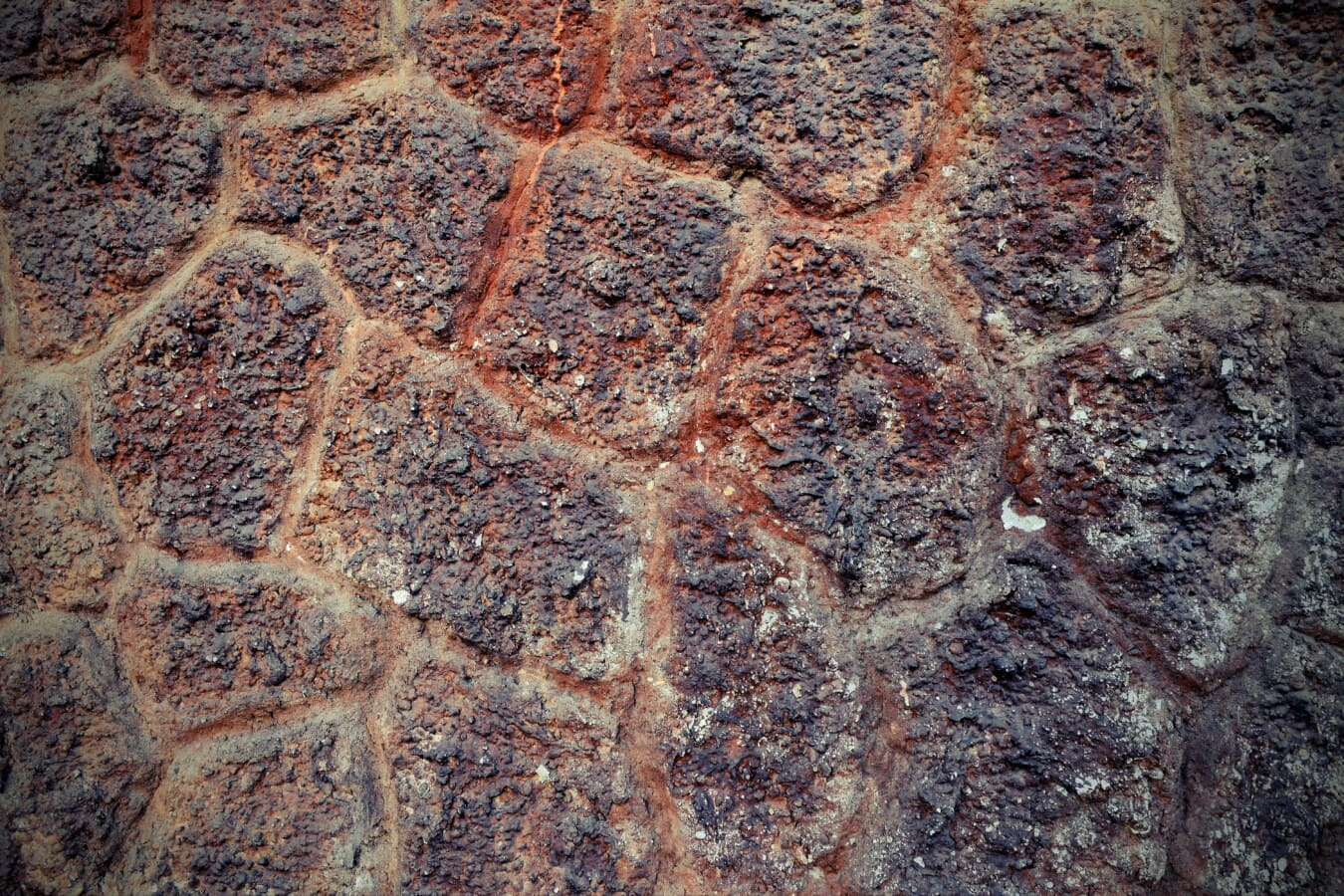 reddish, stone wall, decay, stones, rough, dirty, texture, stone, wall, grunge