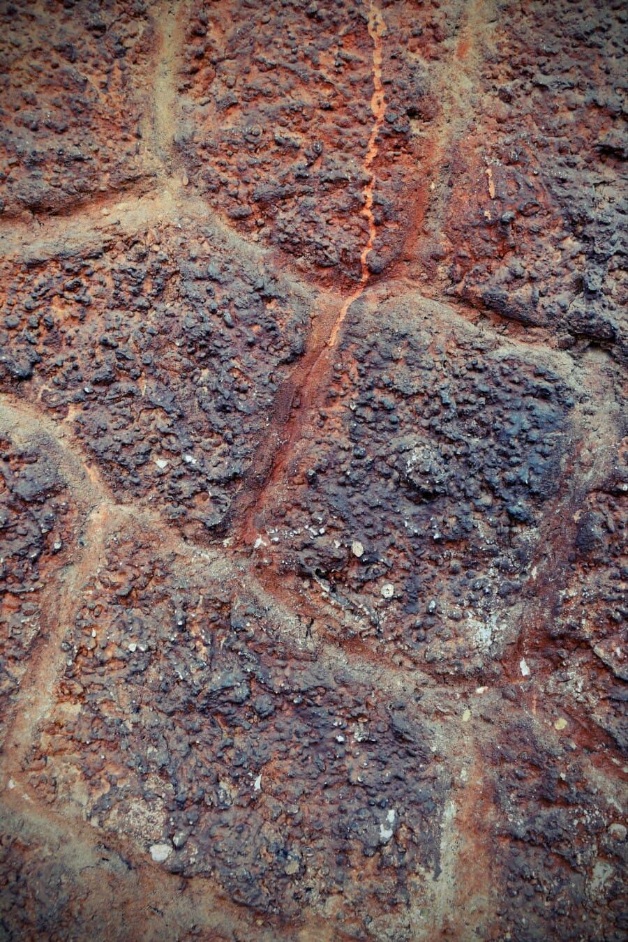 Steinmauer, aus nächster Nähe, Steine, Staub, Details, dreckig, Grunge, alt, Wand, Textur