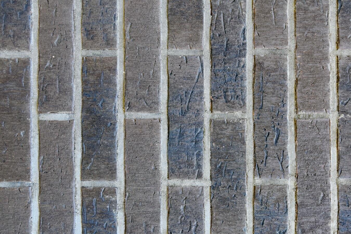 cegły, pionowe, murarskie, zwykłe, Moduł, szorstki, brudne, grunge, stary, wzór