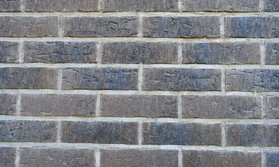 briques, maçonnerie, mortier, régulière, texture, cube, vieux, brique, mur, ciment