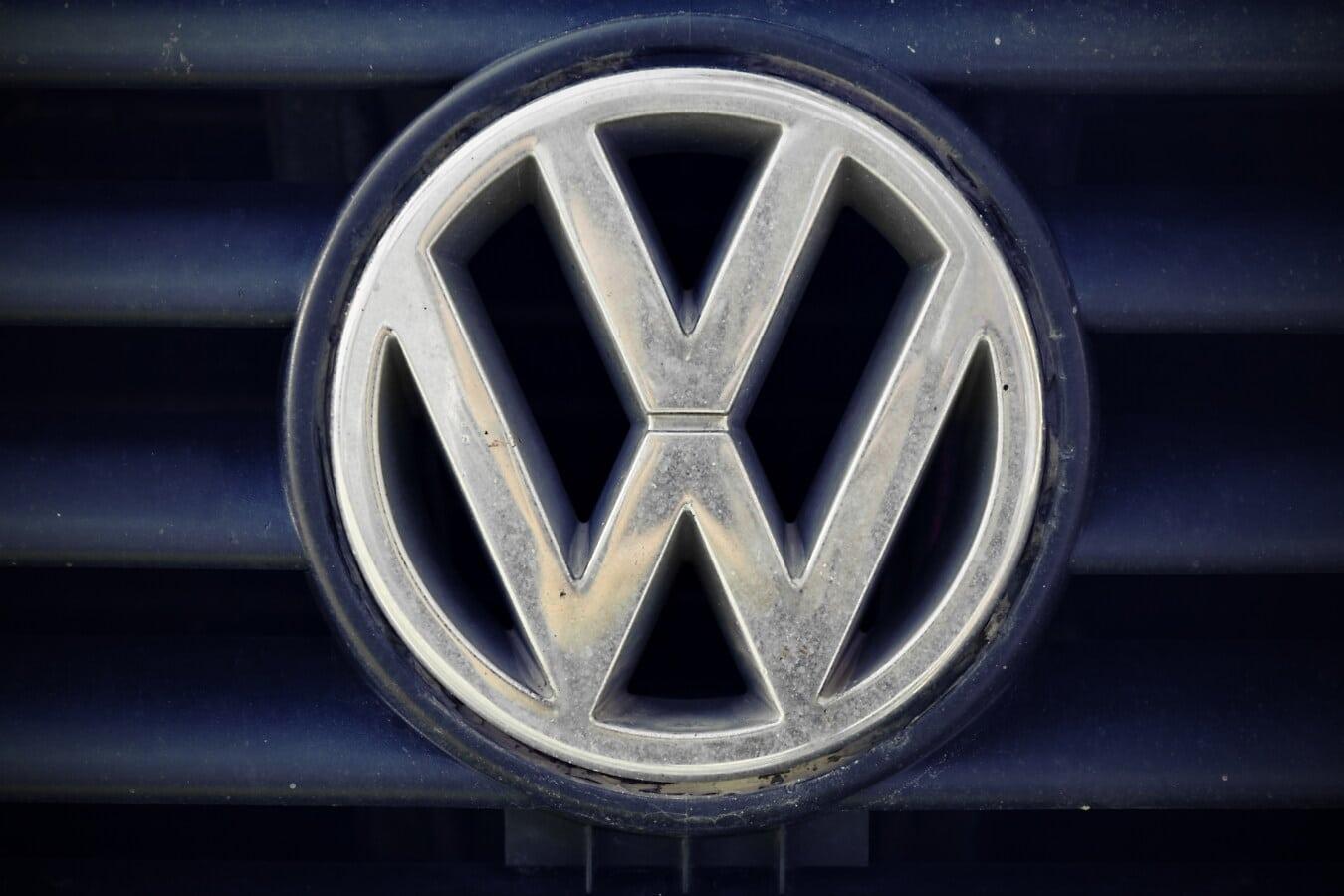 symbole, Allemagne, voiture, style ancien, vieux, en détail, démodé, carie, métalliques, chrome