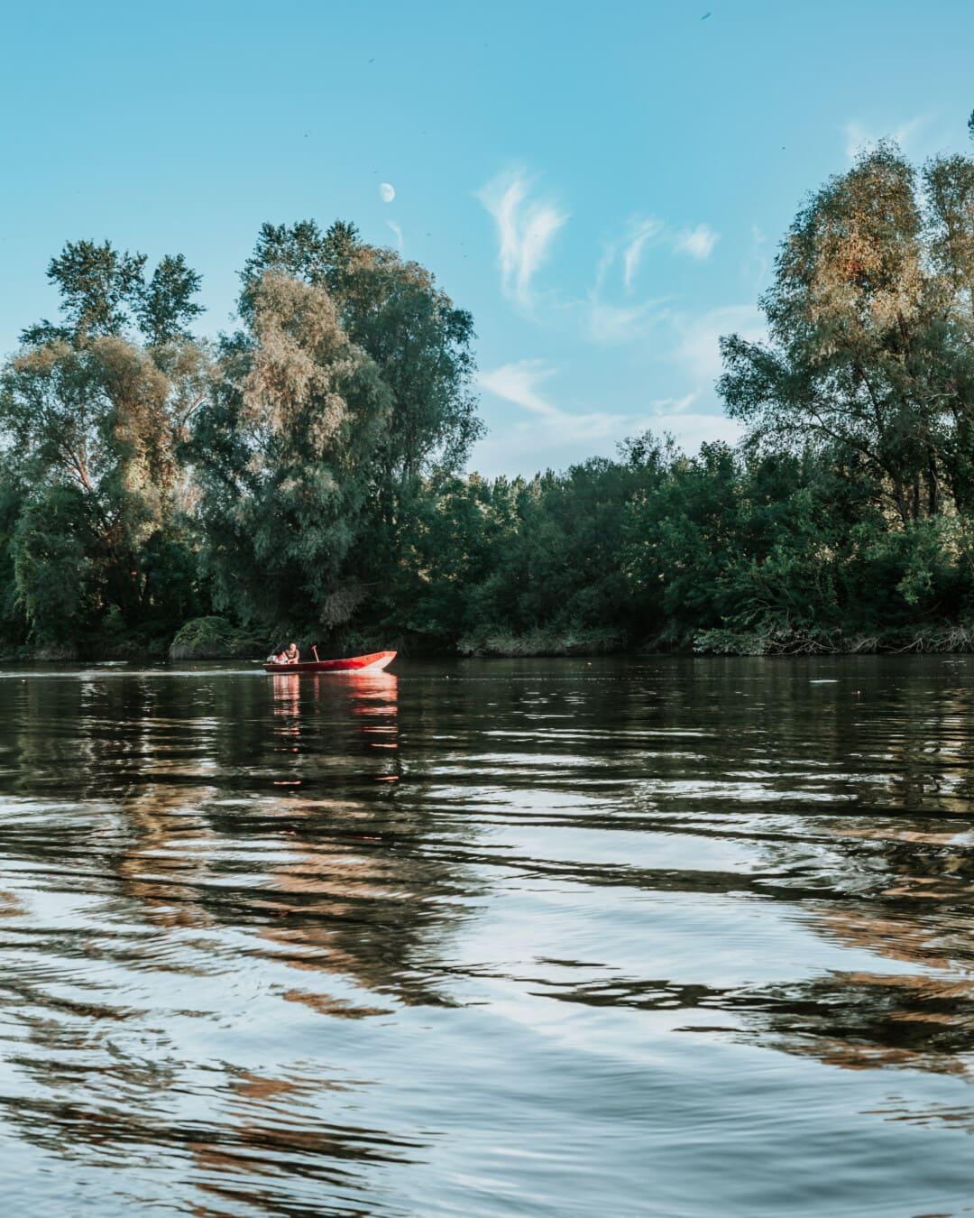 Landschaft, Ufer, Struktur, am See, Wasser, Reflexion, Fluss, Natur, im freien, Holz