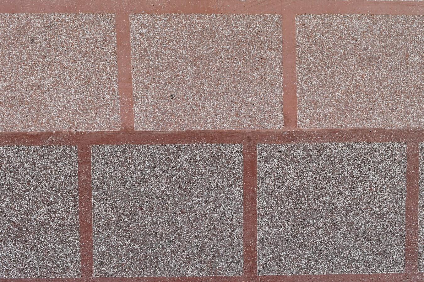 Wand, Platz, Textur, Muster, Würfel, rötlich, Material, Zement, Stein, rau