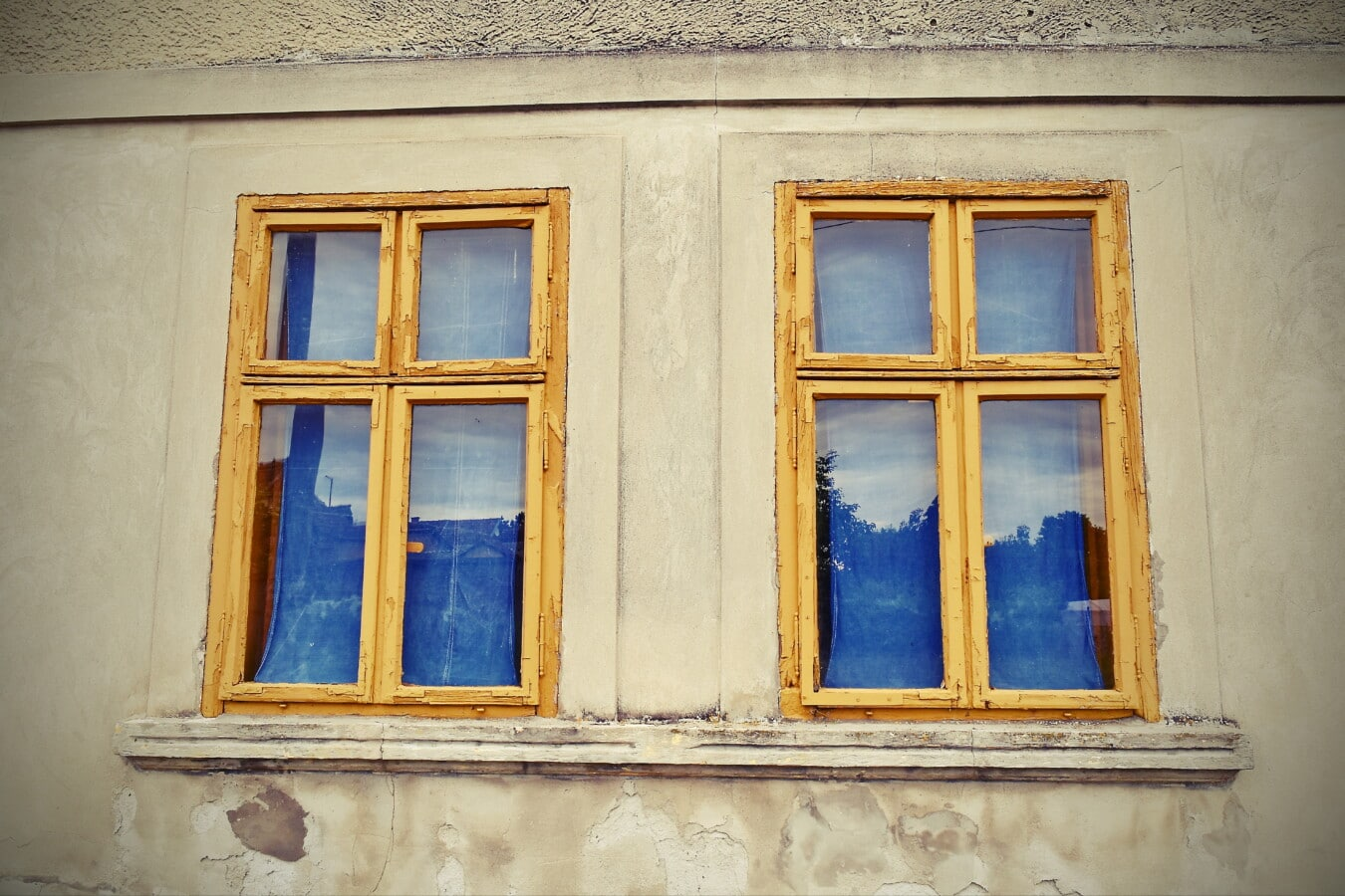 abandoned, windows, decay, old, facade, glass, building, architecture, house, wood