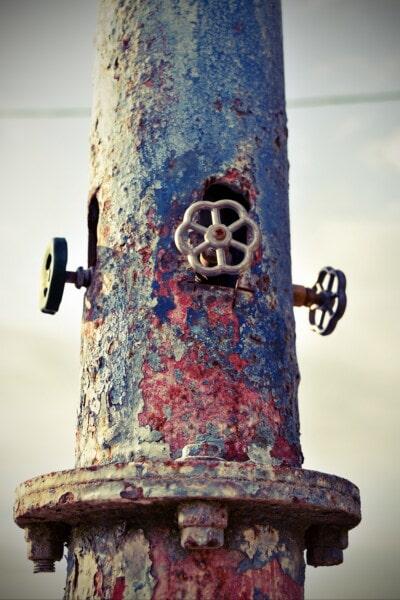 rost, metall, kran, gamla, rör, Decay, järn, grunge, stål, smutsiga