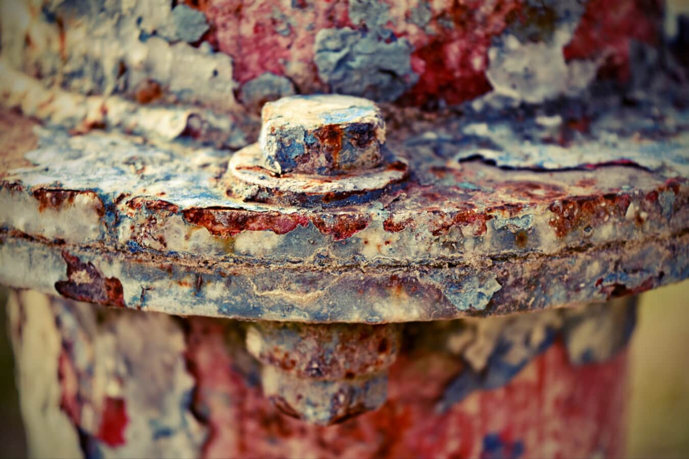 screw, old, rust, decay, grunge, abandoned, paint, fastener, iron, texture