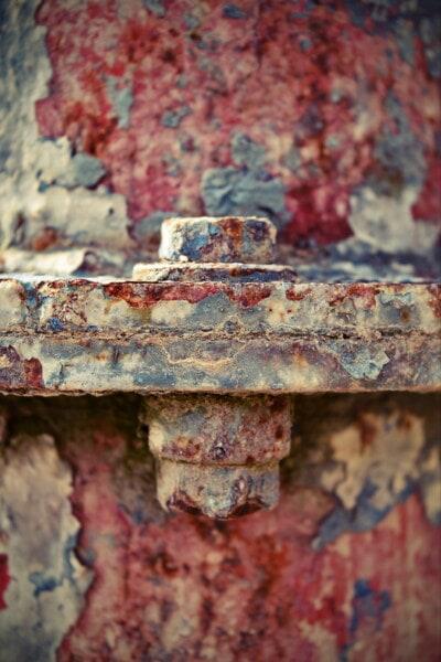 kim loại, trục vít, chất tẩy rửa, phân rã, Sơn, công nghiệp, cũ, sắt, thiết bị, chốt