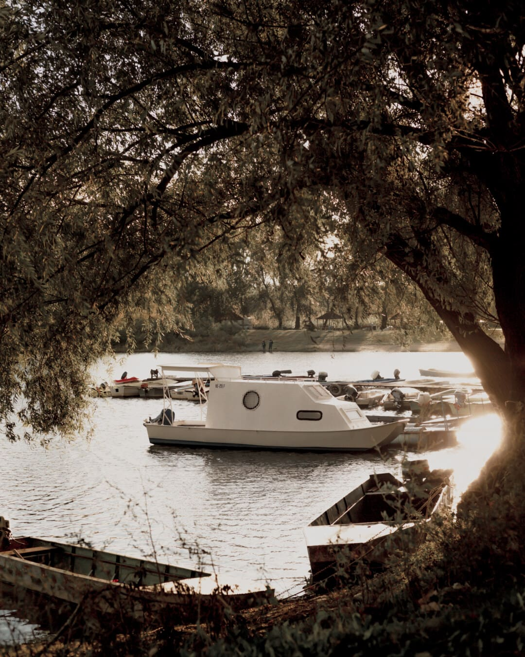 water, shore, boat, lakeside, lake, speedboat, sea, motorboat, river, landscape