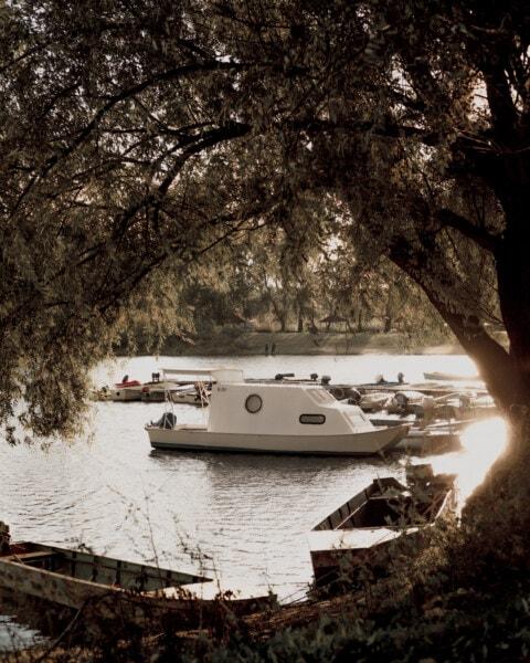 води, берег, човен, Lakeside, озеро, катері, море, моторний човен, Річка, краєвид
