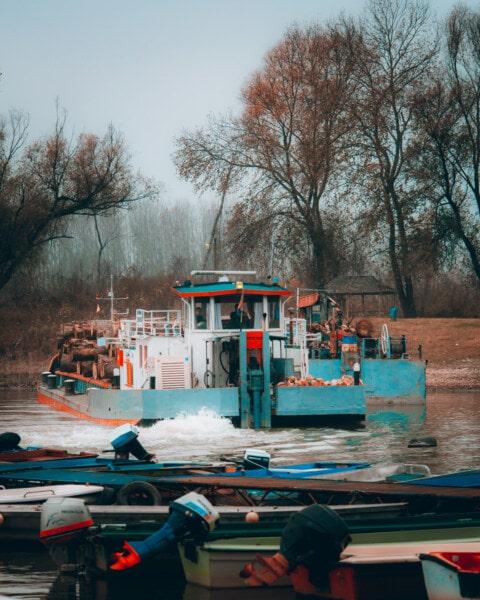 вантажні, Вантажне судно, промисловість, відвантаження, транспорт, деревина, Дрова, корабель, човен, води