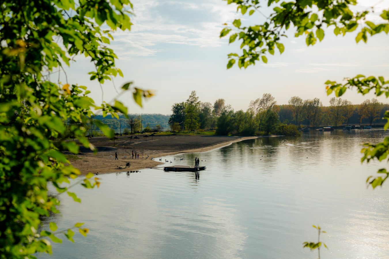 resort area, summer time, lakeside, water, reflection, nature, tree, landscape, lake, river