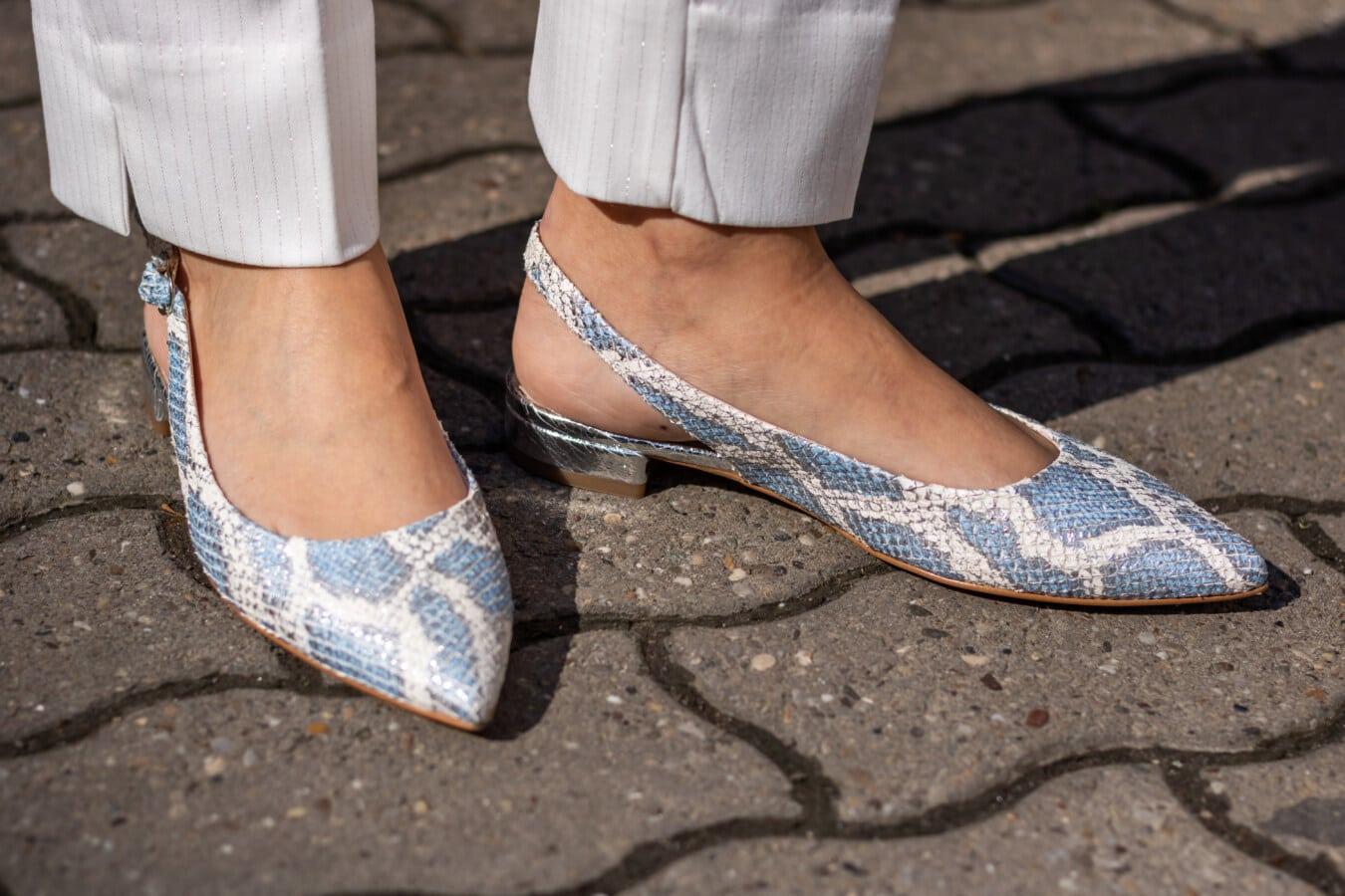 shining, blue, sandal, barefoot, footwear, feet, businesswoman, legs, shoe, street