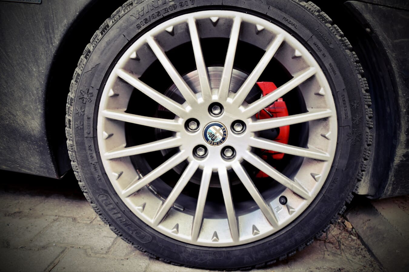 Alfa Romeo, dæk, sportsvogn, radial, rand, aluminium, maskine, bil, hjulet, autojen