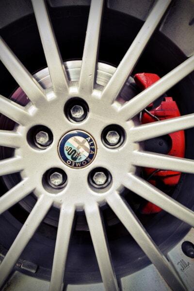 Alfa Romeo, rand, helt tæt, aluminium, sportsvogn, hjulet, enhed, maskine, stål, maskiner