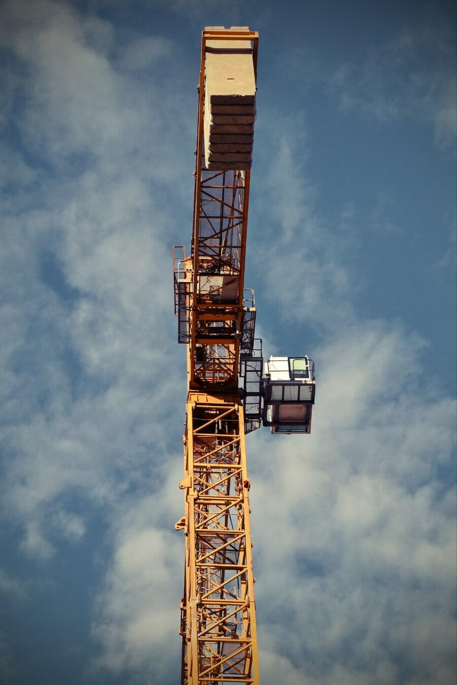 건설, 장치, 크레인, 스틸, 산업, 높은, 타워, 무거운, 기계, 아키텍처