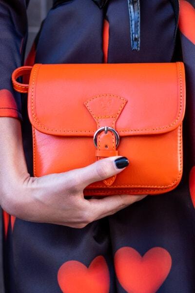 δέρμα, Κίτρινο πορτοκαλί, τσάντα, Μόδα, στυλ, στολή, εκμετάλλευση, χέρι, γυναίκα, αποσκευές