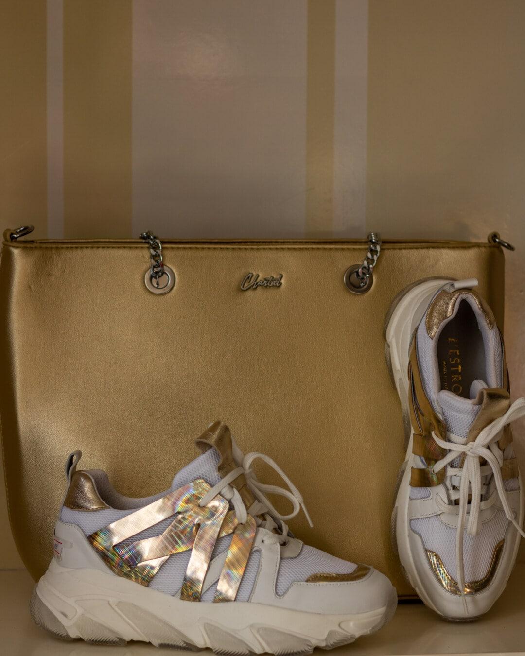 黄金の輝き, スニーカー, 高級, シャイニング ・, 光沢のあります。, ハンドバッグ, 履物, ファッション, 革, レトロ