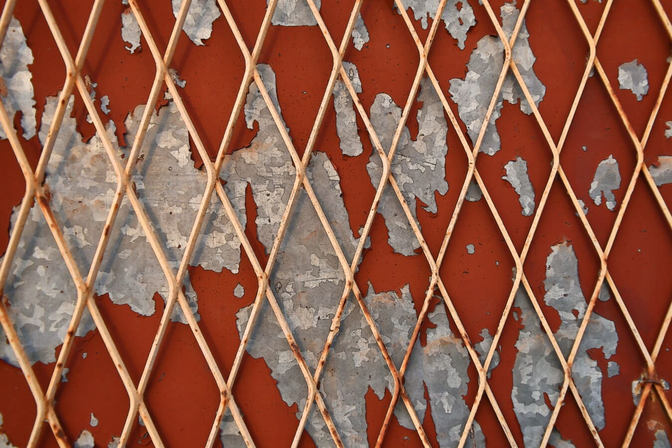 fence, wires, grid, rust, metal, paint, reddish, texture, pattern, old