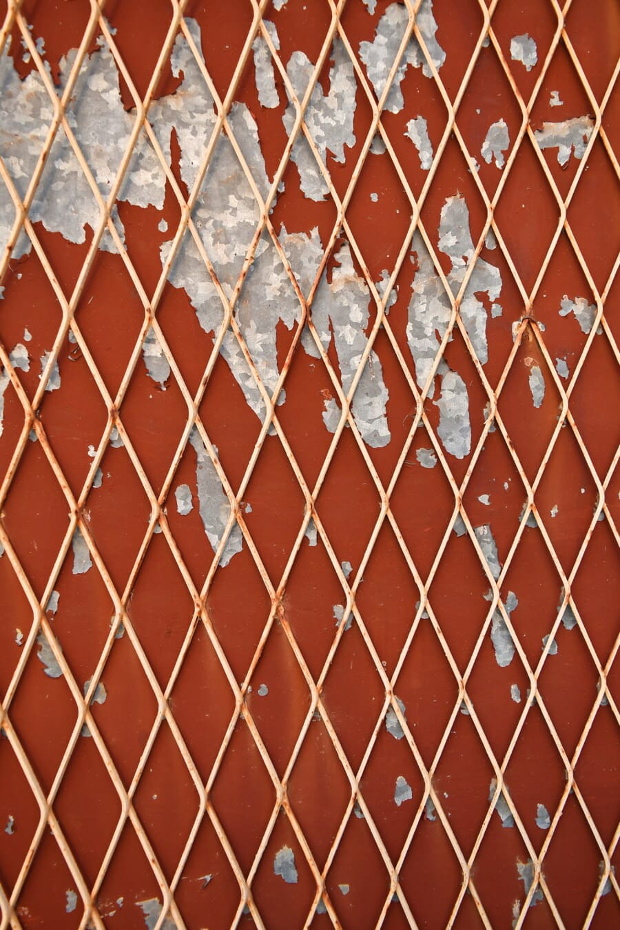 Zaun, rötlich, malen, Rost, Verfall, Barriere, Design, Muster, Textur, Stahl