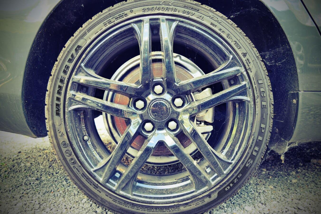noir, en aluminium, jante, pneu, voiture de sport, roue, voiture, automobile, véhicule, en acier