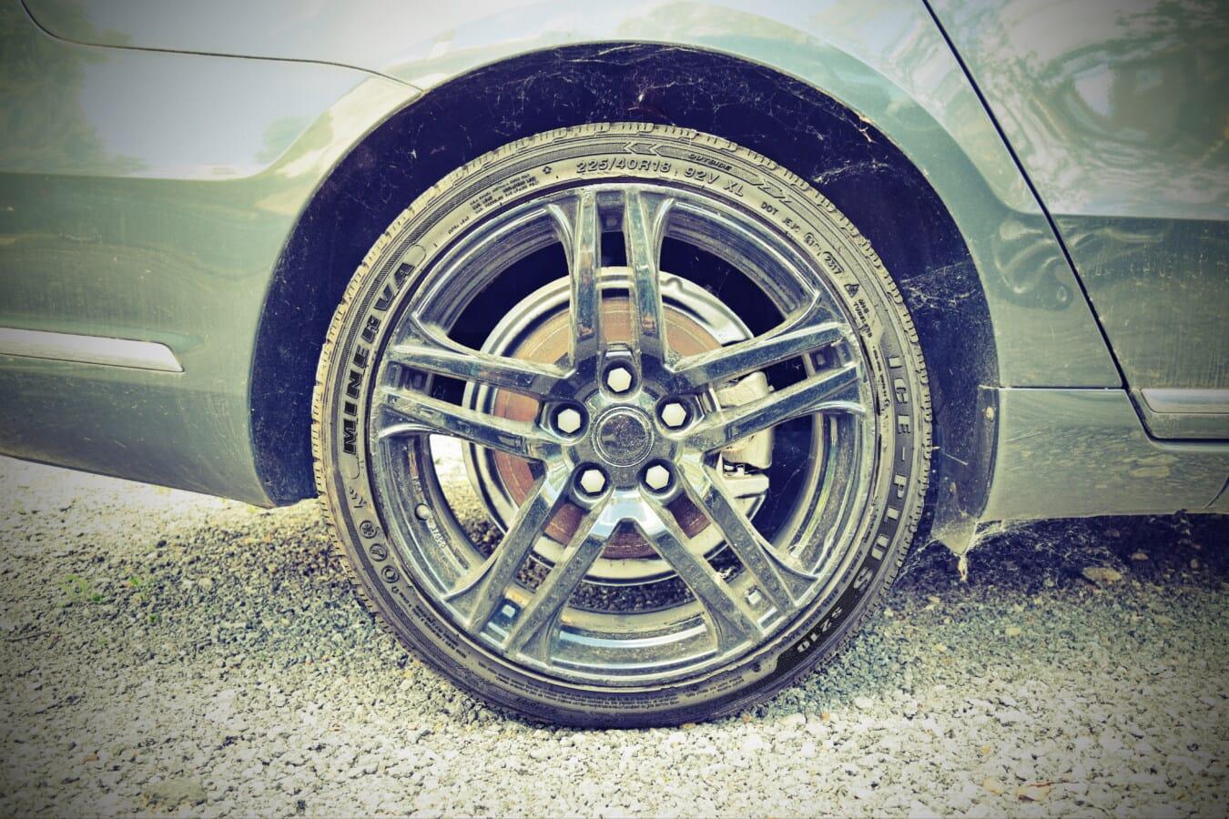 coche de los deportes, aluminio, borde, neumático, asfalto, coche, máquina, rueda, vehículo, automoción