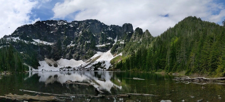 Glacier, Sommet de montagne, au bord du lac, heure d'été, montagne, forêt, paysage, montagnes, eau, Lac