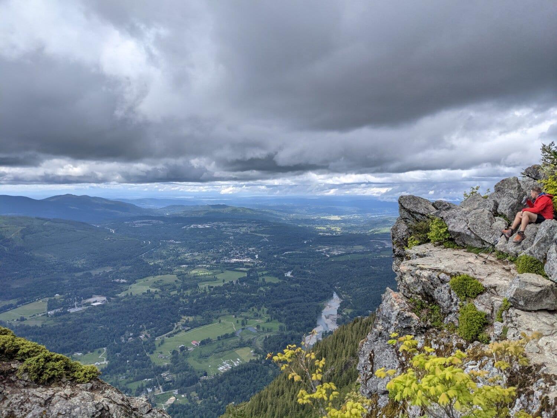 Bergsteiger, Bergspitze, Mann, sitzen, Klippe, Abenteuer, Berg, Landschaft, Natur, Wanderung