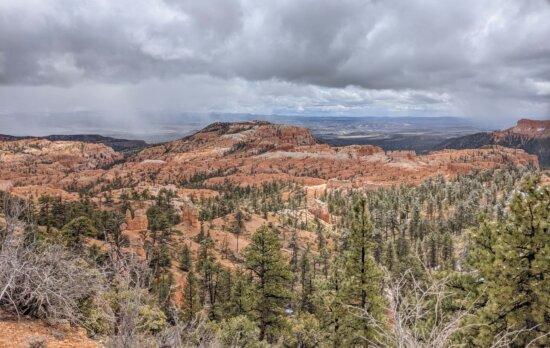 panoráma, kaňon, majestátní, poušť, rokle, skála, národní, Hora, parku, údolí