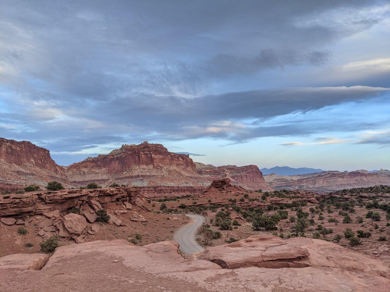 nature sauvage, Itinéraire, asphalte, Canyon, paysage, montagne, haute terre, Roche, grès, nature