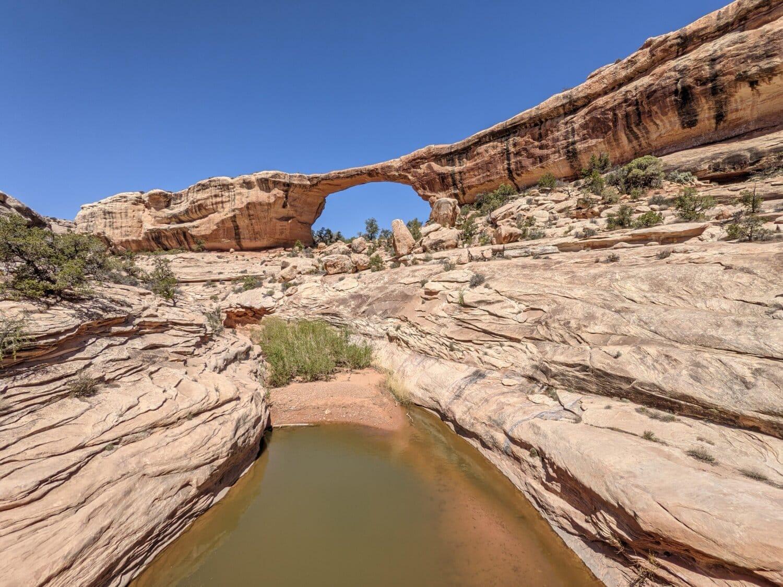 kaňon, řeka, břehu řeky, pískovec, geologie, formace, skála, oblouk, krajina, útes