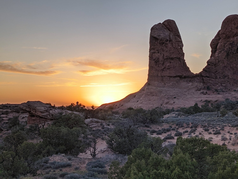 Sonnenuntergang, Wüste, Megalith, Geologie, Felsen, majestätisch, Landschaft, Dämmerung, Park, Berg