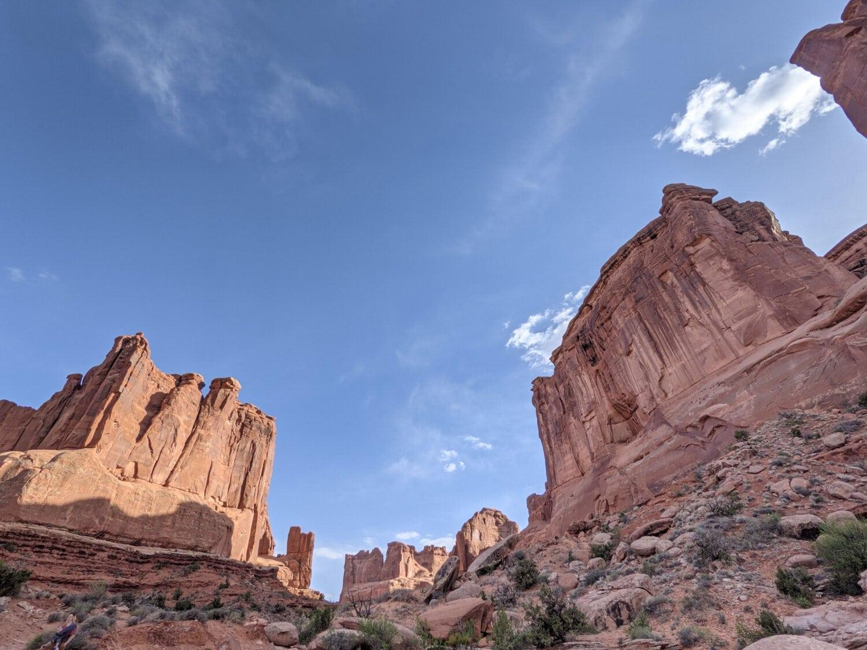 pískovec, parku, útes, skála, údolí, kaňon, krajina, poušť, venku, geologie