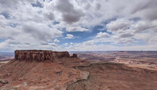 ørken, Panorama, klint, fjeldkløft, bjerg, højt land, klippe, landskab, sandsten, geologi