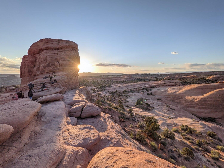 rock alpinism, rocă alpinist, canion, deşert, atracţie turistică, turistice, gresie, apus de soare, peisaj, parcul