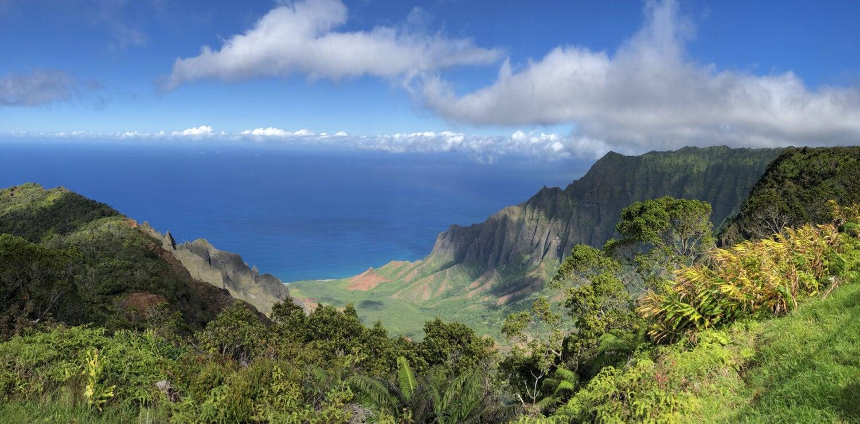 tropikalny, linia brzegowa, natura, bezdroża, krajobraz, panoramy, majestatyczny, góry, góry, Urwisko
