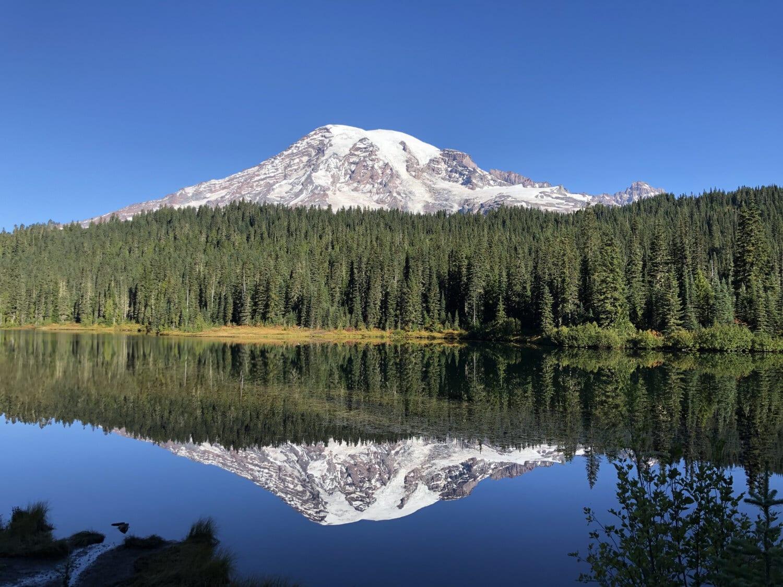 lake, mountain peak, reflection, national park, spectacular, majestic, idyllic, snow, mountain, landscape