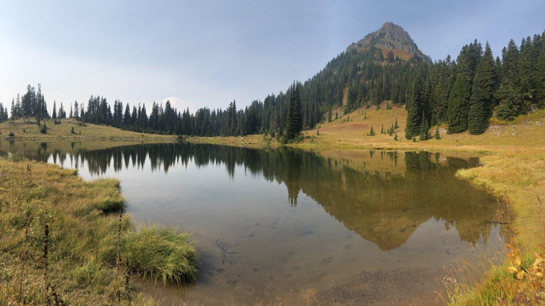 au bord du lac, été, après midi, flanc de la montagne, paysage, atmosphère, idyllique, calme, eau, Lac