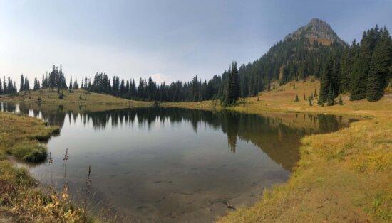 山, 夏季, 湖, 冷静, 气氛, 田园, 森林, 水, 湖, 土地