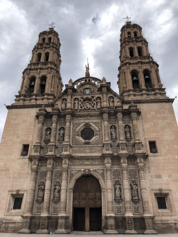 katolikus, székesegyház, templom tornya, torony, szobrászat, Dísz, homlokzat, barokk, épület, építészet
