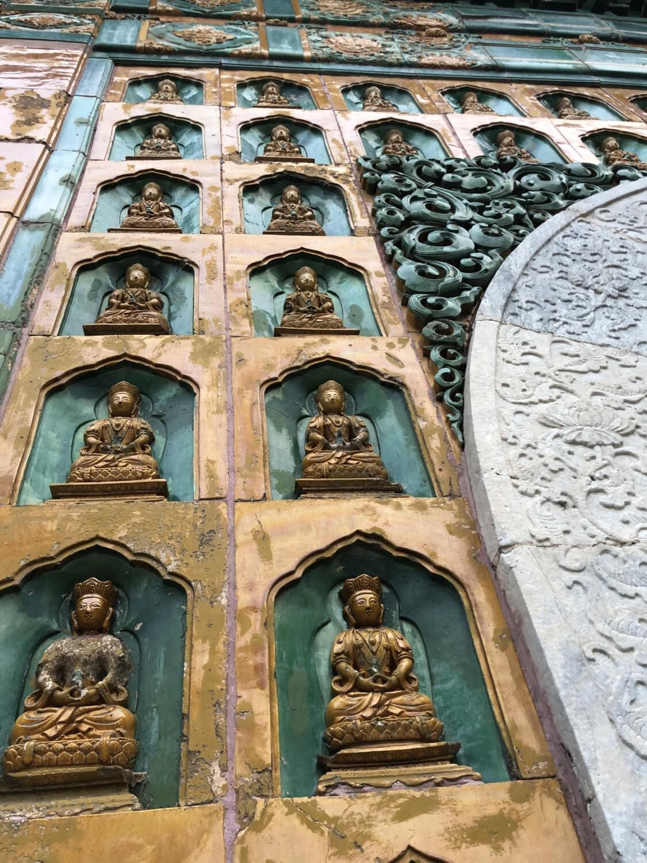 Budda, Buddyzm, ozdobne, ściana, arabeska, dziedzictwo, religijne, religia, symbol, fasada