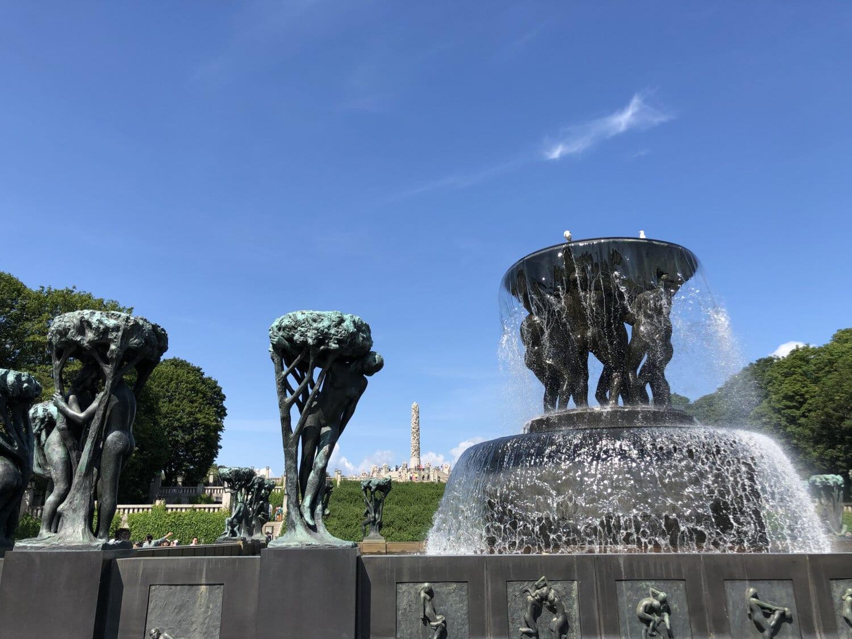 Brunnen, Skulptur, Bronze, Statue, Architektur, Wasser, im freien, Kunst, Denkmal, Park