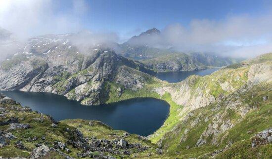 megah, pemandangan, Taman Nasional, Danau, Gunung, dataran tinggi, cekungan, alam, Gunung, pegunungan