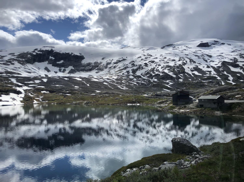 Hiver, Glacier, haute terre, Lac, alpin, eau glacée, paysage, montagnes, eau, neige
