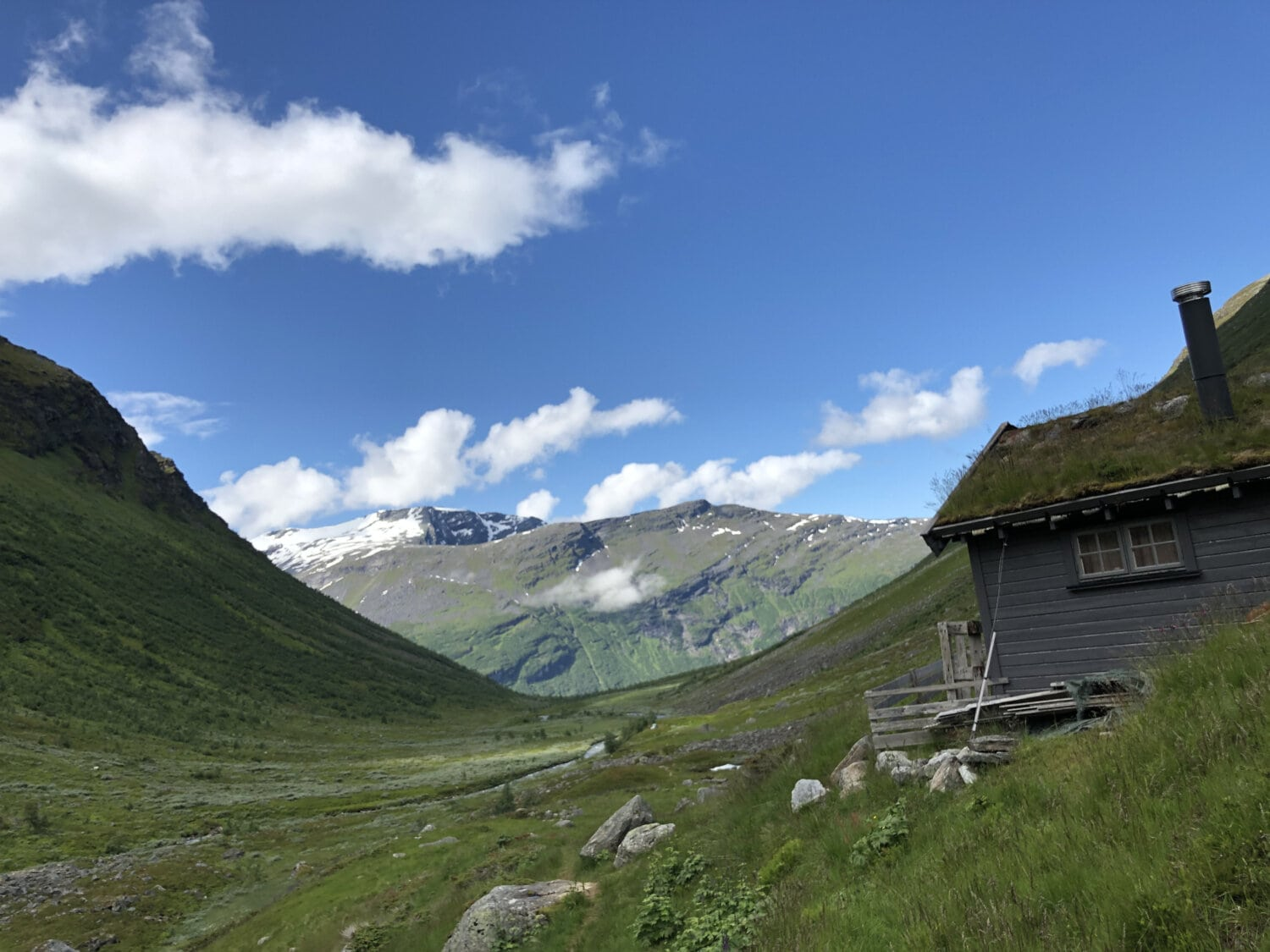 cottage, shed, valley, abandoned, bungalow, house, peak, mountain, high land, landscape